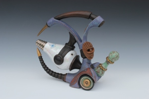 Rat Rod with Insectual Power: Visitor Sereis 20015 Terra Cotta with Multi-Fired Surface 10.5